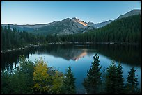 Bear Lake and Longs Peak in autumn. Rocky Mountain National Park ( color)
