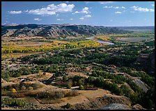 Little Missouri River Oxbow Bend in autumn, North Unit. Theodore Roosevelt National Park ( color)