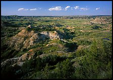 Painted Canyon, late afternoon. Theodore Roosevelt National Park ( color)