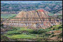 Butte with red scoria cap, Painted Canyon. Theodore Roosevelt National Park ( color)
