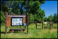 Entrance to Elkhorn Ranch Unit. Theodore Roosevelt National Park ( color)