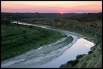 Little Missouri River, sunset. Theodore Roosevelt National Park ( color)