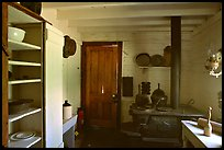 Kitchen of Roosevelt's Maltese Cross Cabin. Theodore Roosevelt National Park ( color)