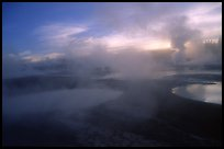 Thermal activity at Norris geyser basin. Yellowstone National Park, Wyoming, USA. (color)