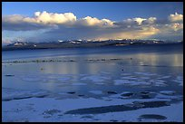 Ice on Yellowstone lake. Yellowstone National Park ( color)