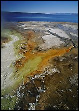 West Thumb geyser basin and Yellowstone lake. Yellowstone National Park ( color)