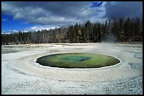 Chromatic Pool in Upper Geyser Basin. Yellowstone National Park ( color)