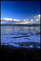 Yellowstone Lake with frozen shores, sunset. Yellowstone National Park ( color)