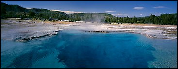 Thermal scenery with hot springs. Yellowstone National Park (Panoramic color)