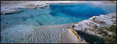 Turquoise thermal pool. Yellowstone National Park (Panoramic color)