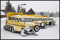 Pictures of Snowcoaches and Snowmobiles