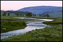 Soda Butte Creek, Lamar Valley, dawn. Yellowstone National Park, Wyoming, USA. (color)