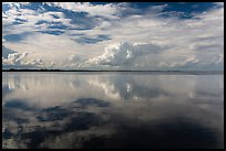 Clouds reflected in water, Biscayne Bay. Biscayne National Park ( color)