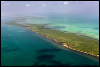 Aerial view of reef, Elliott Key, and Biscayne Bay. Biscayne National Park ( color)