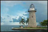 Boca Chita Lighthouse, early morning. Biscayne National Park, Florida, USA.