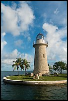 Lighthouse and cannon, Boca Chita Key. Biscayne National Park, Florida, USA.