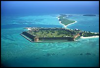 Aerial view of Garden, Bush, and Long Keys. Dry Tortugas National Park, Florida, USA.