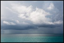 Storm clouds above ocean. Dry Tortugas National Park, Florida, USA. (color)
