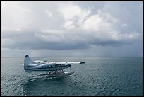 Seaplane and ocean. Dry Tortugas National Park, Florida, USA. (color)