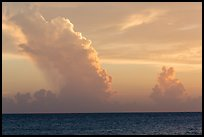 Tropical clouds at sunset. Dry Tortugas National Park, Florida, USA. (color)