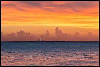 Loggerhead key at sunset. Dry Tortugas National Park, Florida, USA. (color)