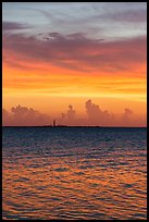 Colorful sunset over Loggerhead Key. Dry Tortugas National Park, Florida, USA. (color)