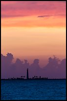 Loggerhead Key lighthouse at sunset. Dry Tortugas National Park, Florida, USA. (color)