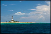 Lighthouse and deck, Loggerhead Key. Dry Tortugas National Park, Florida, USA. (color)