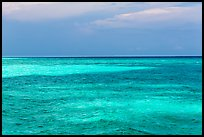Turquoise waters over shallow sand bars, Loggerhead Key. Dry Tortugas National Park, Florida, USA. (color)