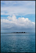 Long Key and cloud. Dry Tortugas National Park ( color)