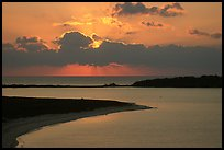 Sunrise over Long Key and Bush Key. Dry Tortugas National Park ( color)