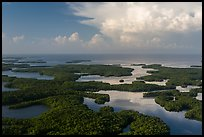 Aerial view of Ten Thousand Islands and Gulf of Mexico. Everglades National Park ( color)