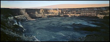 Volcanic crater and extinct shield volcano. Hawaii Volcanoes National Park (Panoramic color)
