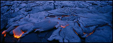 Live lava flow. Hawaii Volcanoes National Park (Panoramic color)