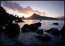 Sunrise from South Beach, Ofu Island. National Park of American Samoa ( color)