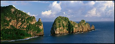 Pola Island, Tutuila Island. National Park of American Samoa (Panoramic color)