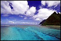 Channel with turquoise waters between Olosega and Ofu. National Park of American Samoa (color)