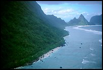 Aerial view of the South side of Ofu Island. National Park of American Samoa ( color)