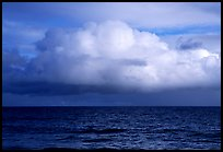 Cloud above the ocean, Tau Island. National Park of American Samoa (color)