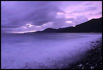 Approaching storm at sunrise, Vatia bay, Tutuila Island. National Park of American Samoa