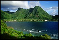 Vatia Bay and village, early morning, Tutuila Island. National Park of American Samoa ( color)