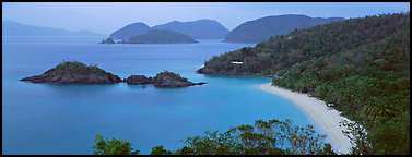 Tropical coast. Virgin Islands National Park (Panoramic color)