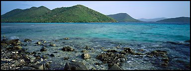Tropical seascape. Virgin Islands National Park (Panoramic color)