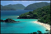 Trunk Bay and beach, mid-day. Virgin Islands National Park, US Virgin Islands.