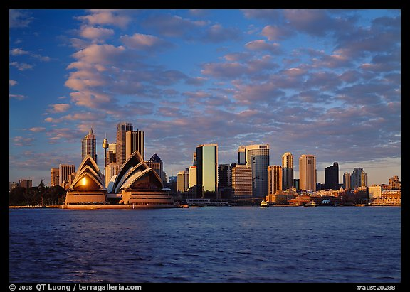 Opera house and city skyline. Australia (color)