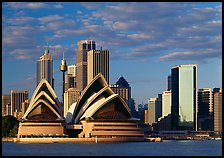 Opera House and high rise buildings. Sydney, New South Wales, Australia (color)