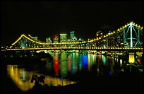 Brisbane by night. Brisbane, Queensland, Australia ( color)