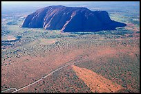 Aerial view of Ayers Rock. Uluru-Kata Tjuta National Park, Northern Territories, Australia ( color)