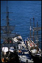 Historic Sailboats in harbour. Sydney, New South Wales, Australia (color)