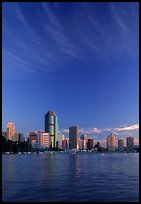 Brisbane River, sunrise. Brisbane, Queensland, Australia ( color)